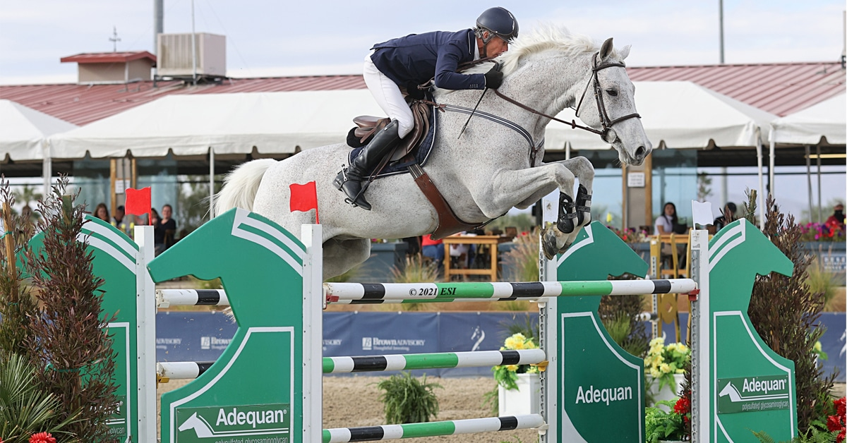 Thumbnail for Richard Spooner and Quirado RC Win $137,000 FEI 1.55m at DIHP