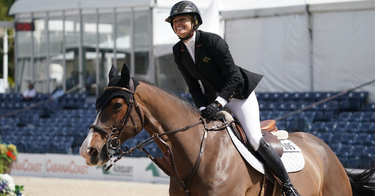 Thumbnail for Tiffany Foster Top Canadian in $73,000 CaptiveOne Advisors 1.50m Classic