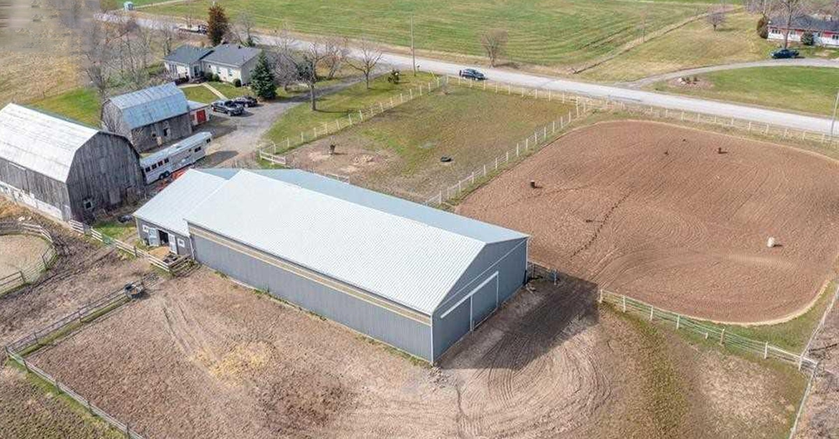 Thumbnail for $1,099,900 for a 13-acre farm with indoor arena in West Lincoln, ON