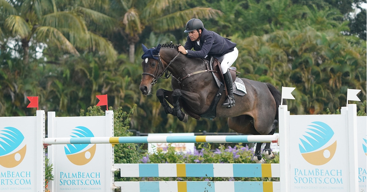 Thumbnail for Santiago Lambre and Easy Girl Win $137,000 Grand Prix