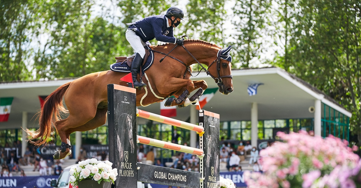 Thumbnail for Robert Wins Grand Prix of Madrid; Lamaze 2nd in 1.45 m Trophy