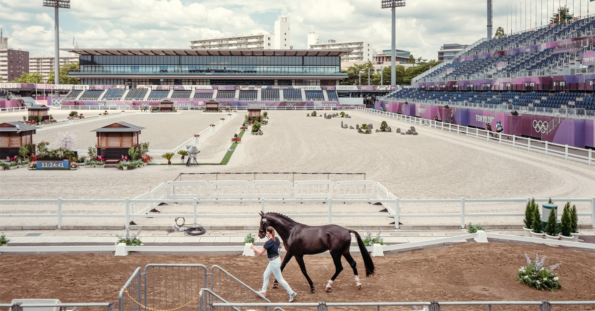 Thumbnail for International Dressage Horses Get Olympic Equestrian Events Underway